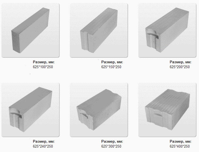 Types of concrete blocks, characteristics, as well as pros